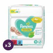 Pampers New Baby nedves törlőkendő 12x50 db