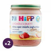 Hipp BIO alma-eper müzlis joghurtban, 7 hó+ (2x160 g)