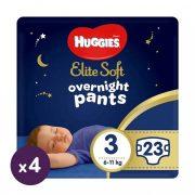 Huggies Elite Soft Overnights Pants éjszakai bugyipelenka 3, 6-11 kg, 92 db