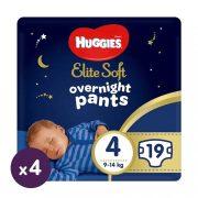Huggies Elite Soft Overnights Pants éjszakai bugyipelenka 4, 9-14 kg, 76 db