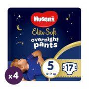 Huggies Elite Soft Overnights Pants éjszakai bugyipelenka 5, 12-17 kg, 68 db