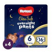 Huggies Elite Soft Overnights Pants éjszakai bugyipelenka 6, 15-25 kg, 64 db