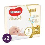 Huggies Elite Soft pelenka 1, 3-5 kg, HAVI PELENKACSOMAG 164 db