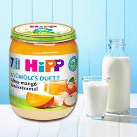 Gyümölcs tejtermékkel