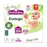 Pommette Ecologic 50 %-ban lebomló öko pelenka, Maxi+ 4+, 9-20 kg, 26 db