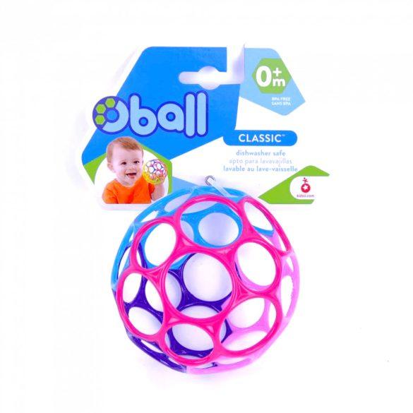 Oball labda játék 10 cm - lila-rózsaszín (0 hó+)