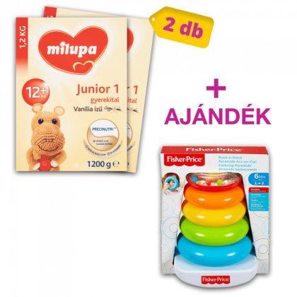 Milupa Junior 1 vanília ízű gyerekital 12 hó+ (2x1200 g) + AJÁNDÉK