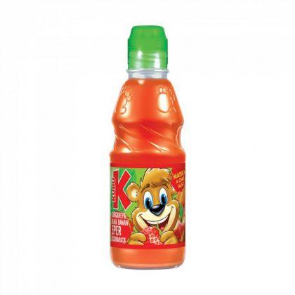 Kubu ital - sárgarépa-alma-banán-eper-őszibarack (300 ml)