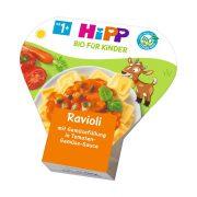 Hipp BIO ravioli zöldséggel töltve paradicsomos-zöldséges szószban, 12 hó+ (250 g) - tálcás menü