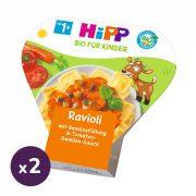 Hipp BIO ravioli zöldséggel töltve paradicsomos-zöldséges szószban, 12 hó+ (2x250 g) - tálcás menü