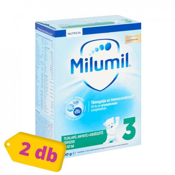 Milumil 3 anyatej-kiegészítő tápszer 9-12 hó (2x600 g)