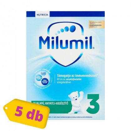 MEGSZŰNT - Milumil 3 anyatej-kiegészítő tápszer 9-12 hó (5x600 g)