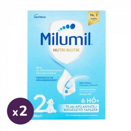 Milumil 2 anyatej-kiegészítő tápszer 6-9 hó (2x600 g)