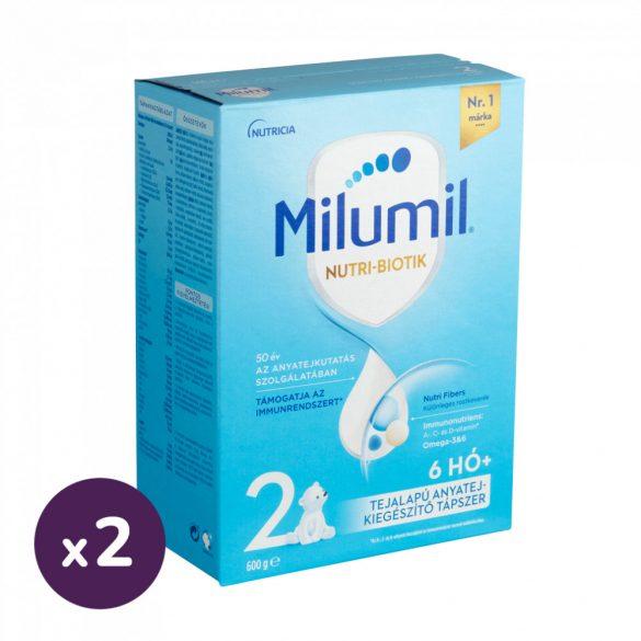 Milumil 2 anyatej-kiegészítő tápszer 6-12 hó (2x600 g)