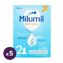 Milumil 2 anyatej-kiegészítő tápszer 6-9 hó (5x600 g)