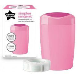 Tommee Tippee Sangenic Simplee pelenka kuka rózsaszín