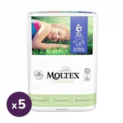 MOLTEX Pure&Nature öko pelenka, XL 6, 16-30 kg HAVI PELENKACSOMAG 105 db