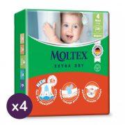 MOLTEX Extra Dry nadrágpelenka, Maxi 4, 9-14 kg HAVI PELENKACSOMAG 176 db