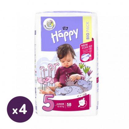 Bella Happy nadrágpelenka Junior 5, 11-25 kg HAVI PELENKACSOMAG 4x58 db