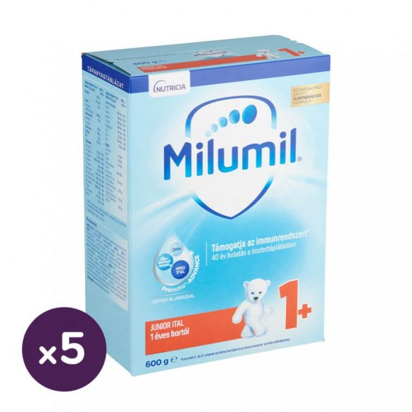 Milumil Junior 1+ gyerekital 12 hó+ (5x600 g)