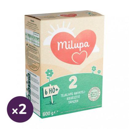 Milupa 2 tejalapú, anyatej-kiegészítő tápszer 6 hó+ (2x600 g)