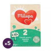 Milupa 2 tejalapú, anyatej-kiegészítő tápszer 6 hó+ (5x600 g)