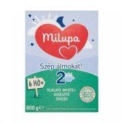 Milupa 2 Szép álmokat! tejalapú, anyatej-kiegészítő tápszer 6 hó+ (600 g)