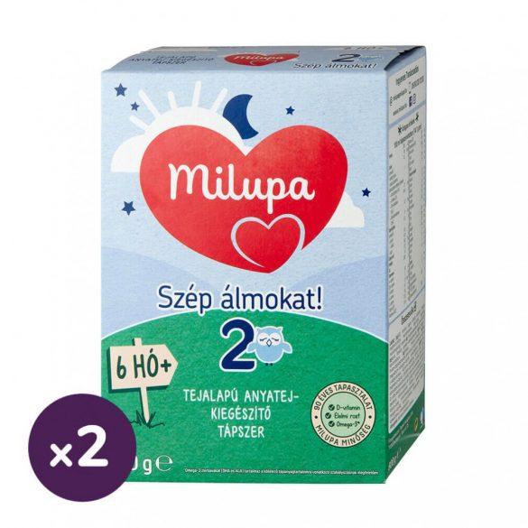 Milupa 2 Szép álmokat! tejalapú, anyatej-kiegészítő tápszer 6 hó+ (2x600 g)