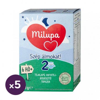Milupa 2 Szép álmokat! tejalapú, anyatej-kiegészítő tápszer 6 hó+ (5x600 g)