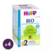Hipp 2 BIO tejalapú, anyatej-kiegészítő tápszer 6 hó+ (4x800 g)