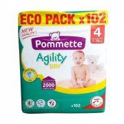 Pommette Agility Dry Eco Pack pelenka Maxi 4, 7-18 kg, 102 db