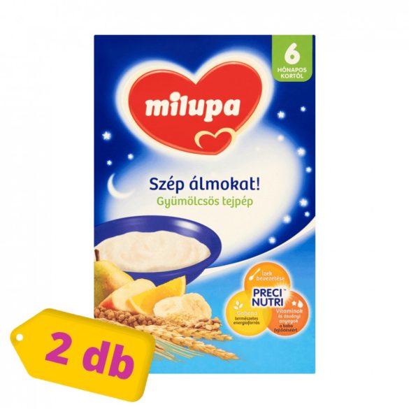 Milupa Szép álmokat! gyümölcsös tejpép 6 hó+ (2x250 g)