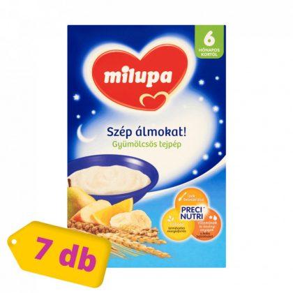 Milupa Szép álmokat! gyümölcsös tejpép 6 hó+ (7x250 g)