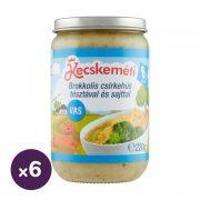 Kecskeméti brokkolis csirkehús tésztával és sajttal, 8 hó+ (6x220 g)