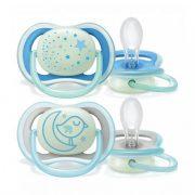 Avent SCF376/21 Ultra air éjszakai fluoreszkáló játszócumi 6-18 hó 2 db (kék)