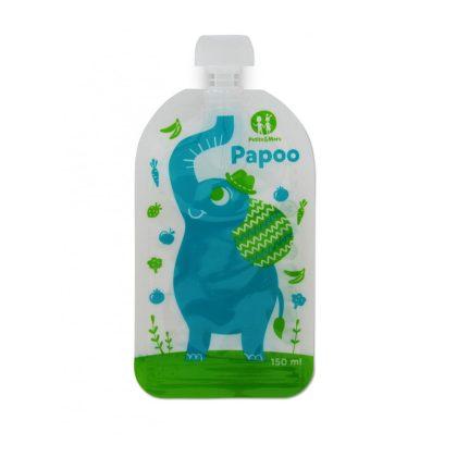 Petite&Mars Papoo Original tasak bébiételekhez - elefánt (6 db)