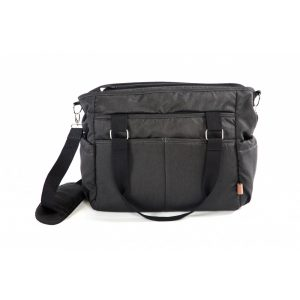 P&M pelenkázó táska Melissa Black Fishbone, fekete