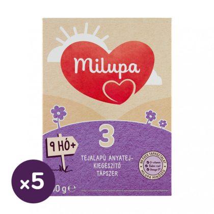 Milupa 3 tejalapú, anyatej-kiegészítő tápszer 9 hó+ (5x600 g)