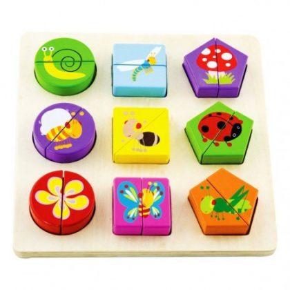 Fa formaválogató puzzle - állatos