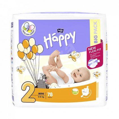 Bella Happy pelenka, Mini 2, 3-6 kg, 78 db
