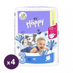 Bella Happy nadrágpelenka Midi 3, 4-9 kg HAVI PELENKACSOMAG 4x72 db