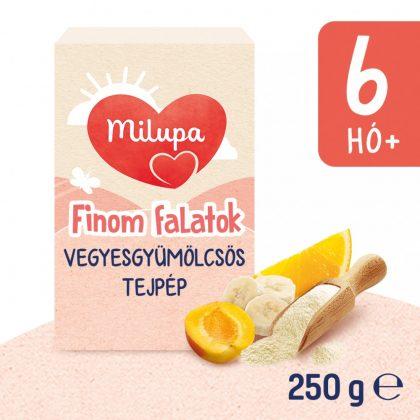 MEGSZŰNT - Milupa Finom Falatok, Vegyes gyümölcs ízű tejpép 6 hó+ (250 g)