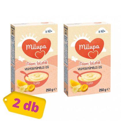MEGSZŰNT - Milupa Finom Falatok, Vegyes gyümölcs ízű tejpép 6 hó+ (2x250 g)