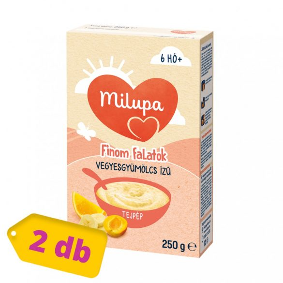 Milupa vegyes gyümölcs ízű tejpép 6 hó+ (2x250 g)