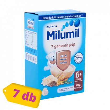 Milumil 7 gabonás pép 6 hó+ (7x225 g) - MEGSZŰNT-5-ös pakk váltja