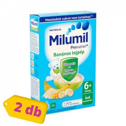 Milumil banános tejpép 6 hó+ (2x225 g)