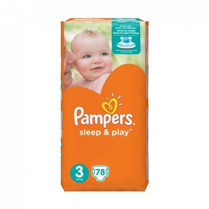 Pampers Sleep & Play pelenka, Midi 3, 6-10 kg, 78 db