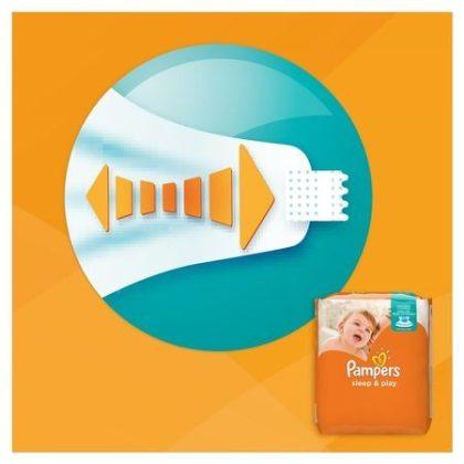 Pampers Sleep & Play pelenka, Midi 3, 6-10 kg, 78 db