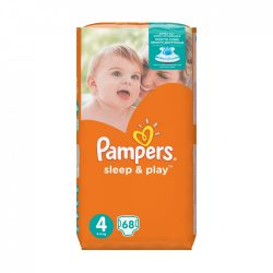 Pampers Sleep & Play pelenka, Maxi 4, 9-14 kg, 68 db-os