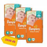 Pampers Sleep&Play Maxi 4, 9-14 kg HAVI PELENKACSOMAG 3x68 db